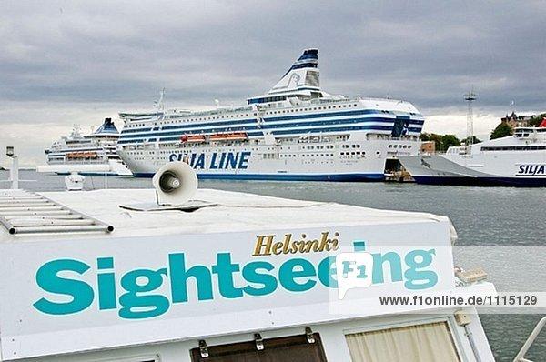 Helsinki Hauptstadt Hafen Meer Baltikum Finnland