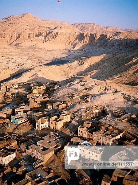 Dorf Fotografie Fernsehantenne Ägypten Luxor