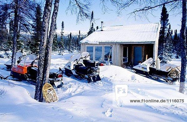 Winter Kanada Schneemobil
