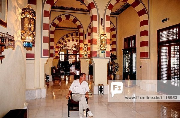 Der Lobby; Alten Katarakt Hotel. Assuan. Nubien. Ägypten