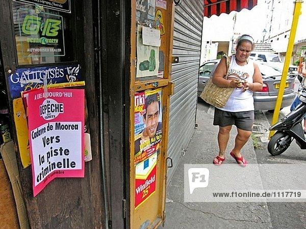 Nahe dem zentralen Markt in Papeete. Tahiti Insel. Französisch-Polynesien. Südpazifik.