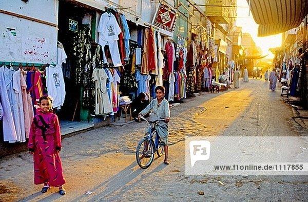 The souks (market) street. Esna. Egypt