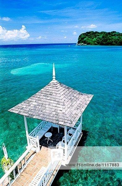 Blue Lagoon Luxus-Resort in der Nähe von Port Antonio. Jamaika. West Indies (Karibik)