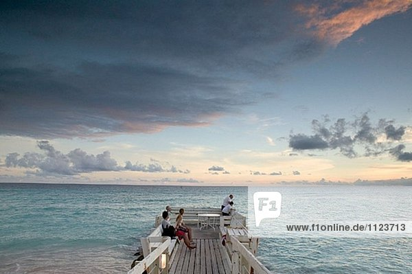 Barbados  St. Lawrence Gap: Sunset Watching on the Pier (NR)