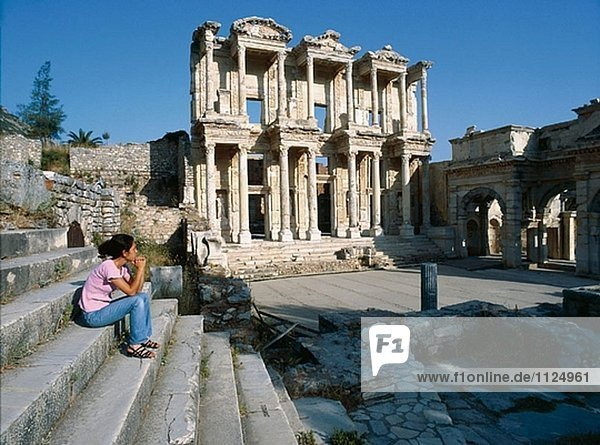 Library of Celsus  ruins of Ephesus. Turkey
