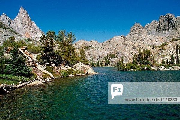 Wasserrand See Kalifornien Minarett
