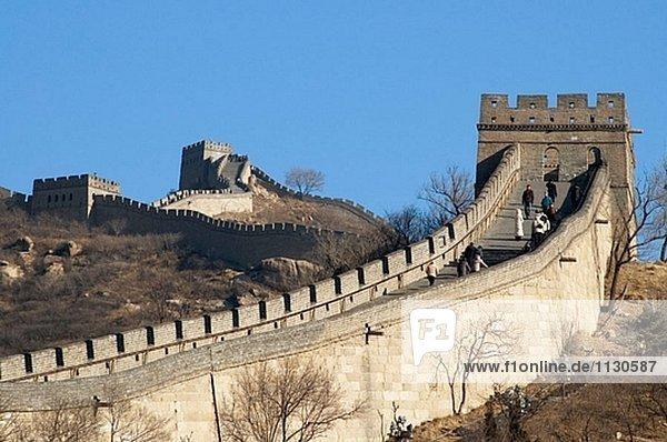 The Great Wall of China. Badaling. Near Beijing. China. Asia.