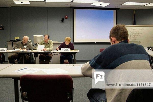 Adult Computertraining-Klasse ist ein Business-Meeting durchgeführt