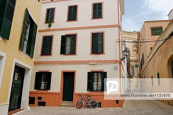 Gebäude Straße Stadt Menorca Mirador alt Spanien