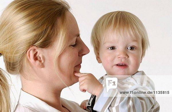 Mutter und Kinder Kleinkind portrait