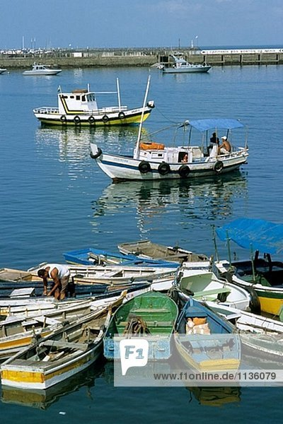 Hafen und Boote. Salvador. Bahia. Brazilien.