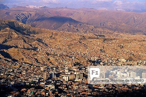 Panoramische Ansicht. La Paz. Bolivien.