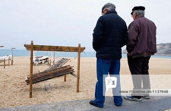 Fisch Pisces Tradition Strand Fischer getrocknet Platz Portugal