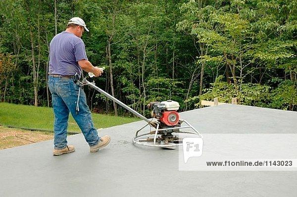 Vereinigte Staaten von Amerika USA Mörtel bauen Boden Fußboden Fußböden arbeiten Eigentumswohnung neues Zuhause