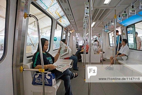 Monorail  Kuala Lumpur. Malaysien