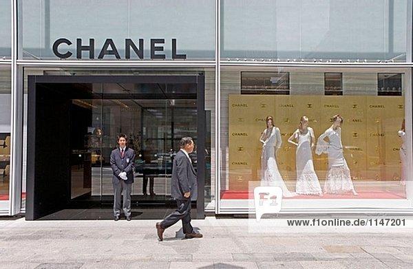 Die trendige Chanel Büros und Head Shop (Architekt Peter Marino). Japan Ginza.Tokyo.