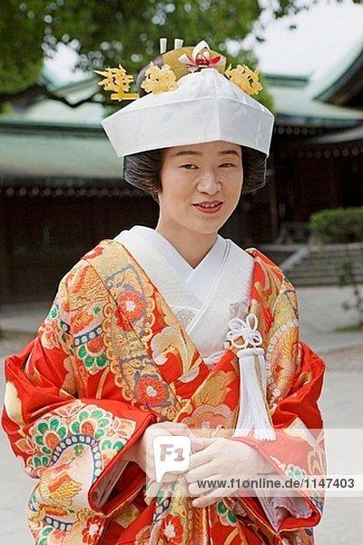 Traditionelle Hochzeit in der Meiji-Schrein am Sonntag  Tokyo. Japan