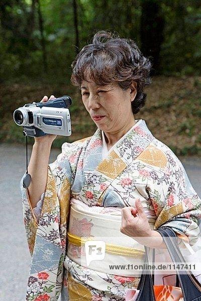 Die Meiji-Schrein am Sonntag  Tokyo. Japan