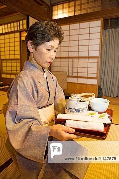 Hiirigaya Ryokan (traditionelle japanische Inn)  Kyoto. Kansai. Japan