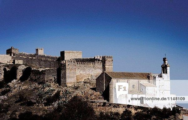 Castle  Santa Olalla del Cala. Huelva province  Andalusia. Spain