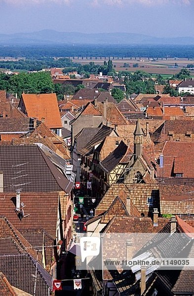 General view. Ribeauville. Haut-Rhin. Alsace. France.