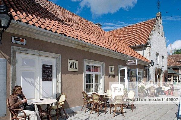 Altstadt  Kuressaare. Insel Saaremaa  Estland