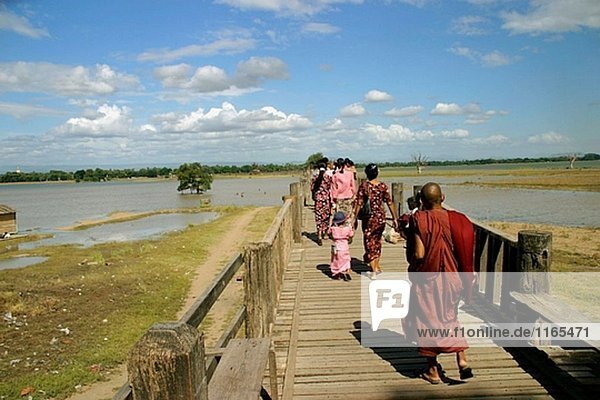 See Brücke Myanmar Amarapura Trennung