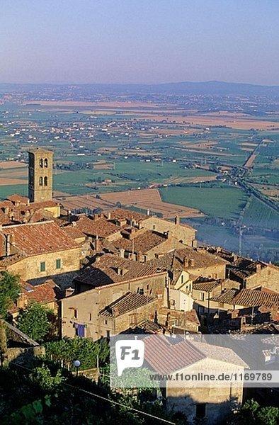 Cortona. Val di Chiana  Toskana  Italien