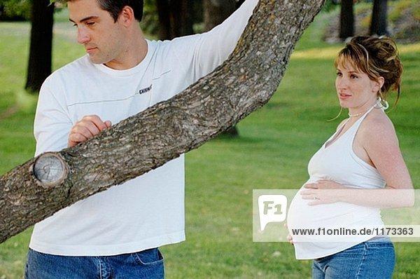 Schwangere paar