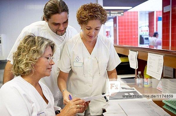 Rezeption  ambulanten Versorgung Service  klinische Tests. Hospital Universitario Gran Canaria Arzt Negrin  Las Palmas de Gran Canaria. Kanarische Inseln  Spanien
