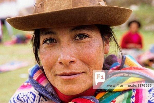 Quechua Frau. Chinchero  Peru.