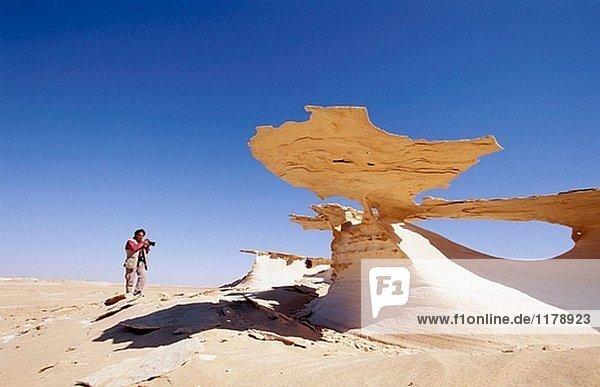 Der Wüste in der Nähe von Nouadhibou. Mauretanien.