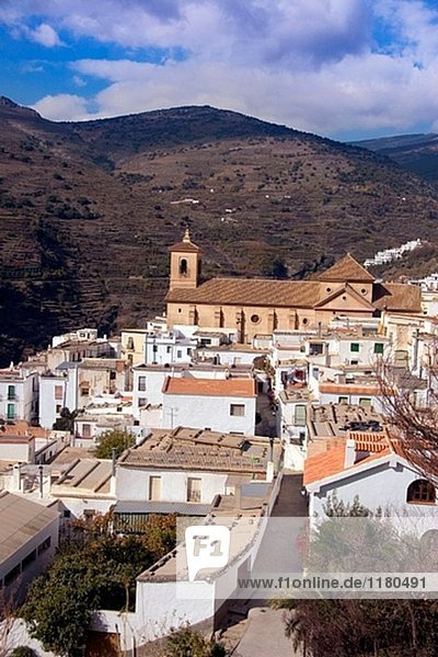 The ecological village of Ohanes in the Alpujarras mountains. Almeria province. Spain.