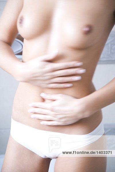 Frau sämig Magen