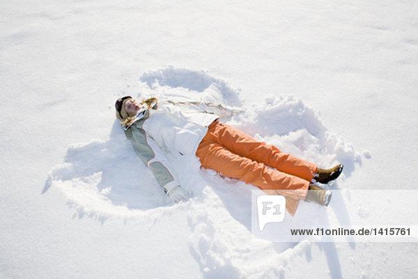 Schneeengel Jugendlicher Produktion Mädchen