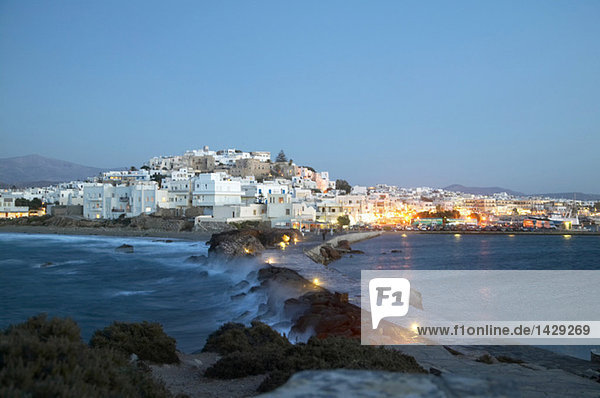 Greece  Naxos  sunset light