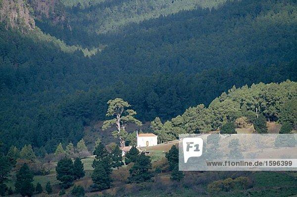 Berg Wohnhaus Kanaren Kanarische Inseln Hang