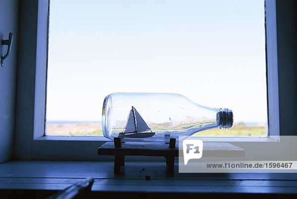 Fenster Schiff Flasche