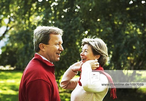 Portrait of a smiling middle aged couple.