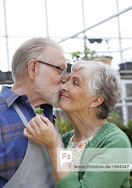 Ein älterer skandinavischen paar Schweden.