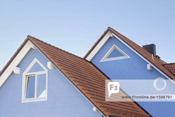 hoch oben Anschnitt Gebäude Ansicht