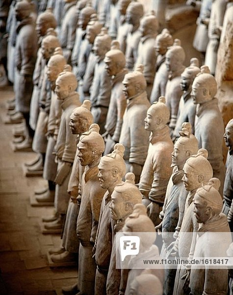 Vaults Of First Emperor Qinshihuang´s Terracotta Army. Xi´an. China