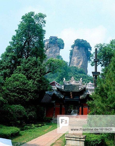 Mt. Doutuan. Jiangyou. Provinz Sichuan. China