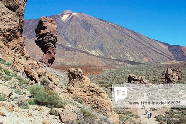 Los Roques. Teide National Park. Tenerife. Canary Islands. Spain