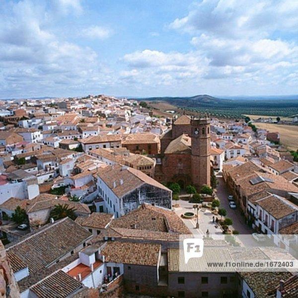 Aerial view,Andalusia,BaÒos de la Encina,Color,Color