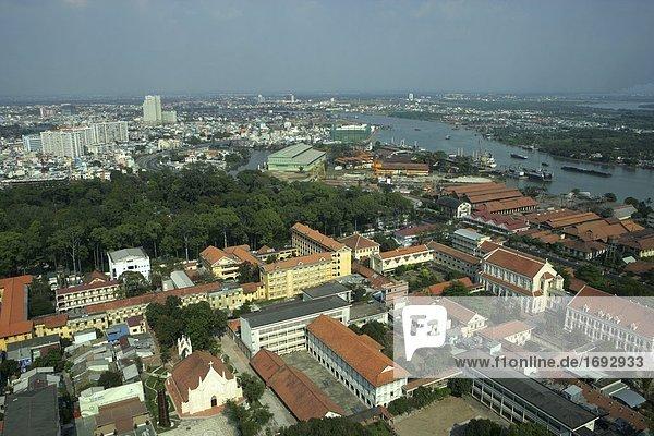 Panoramablick von Ho Chi Minh City aus Saigon Trade Center  Vietnam