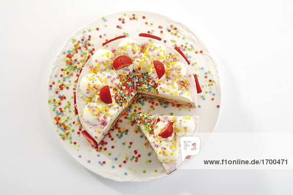 Erdbeer-Sahnetorte  Nahaufnahme