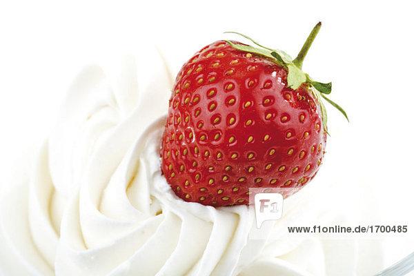 Erdbeere mit Schlagsahne