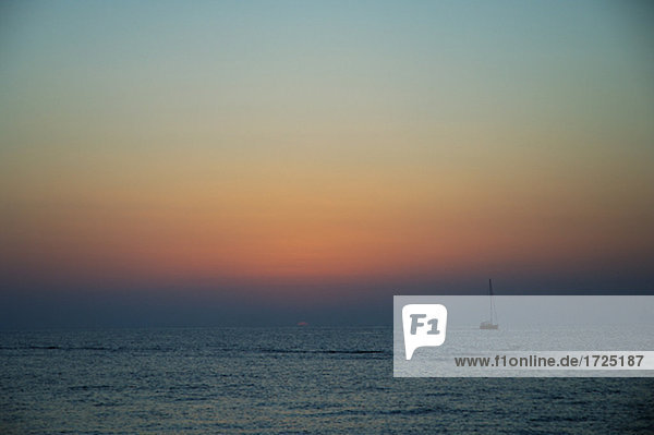 Sailing ship at the horizon