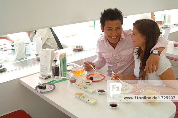 Couple in an Asian Restautrant